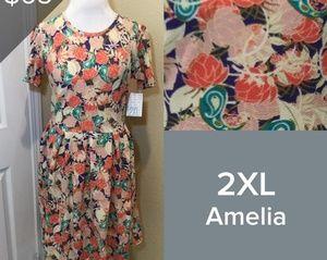 2XL LuLaRoe Amelia Dress